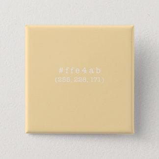 #ffe4ab Square Button (White)