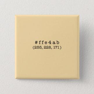 #ffe4ab SquareButton Pinback Button