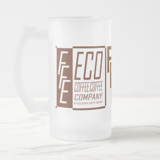 FFE ECO COFFEE COFFEE COMPANY FROSTED GLASS BEER MUG