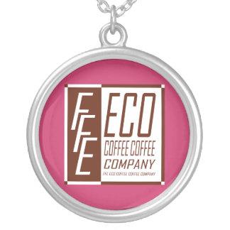 FFE ECO COFFEE COFFEE COMPANY ROUND PENDANT NECKLACE