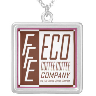 FFE ECO COFFEE COFFEE COMPANY SILVER PLATED NECKLACE