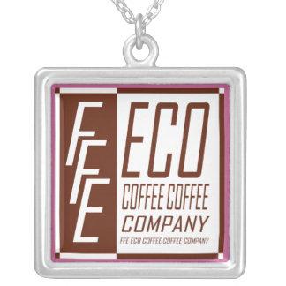 FFE ECO COFFEE COFFEE COMPANY SQUARE PENDANT NECKLACE
