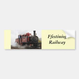 Ffestiniog Railway Car Bumper Sticker
