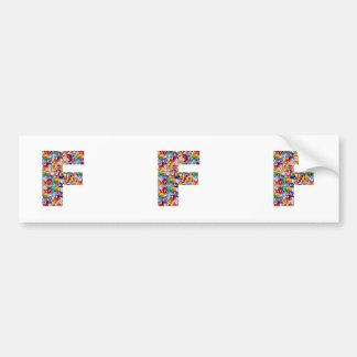 FFF muestra cuánto amor de U NOMBRAN sus amigos Pegatina Para Auto