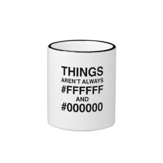 #FFFFFF and #000000 Ringer Mug