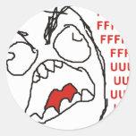 FFFFFFFUUUUUU - ¡Rabia! Etiquetas Redondas