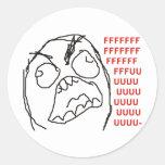 FFFFFFFUUUUUU - Rage! Classic Round Sticker