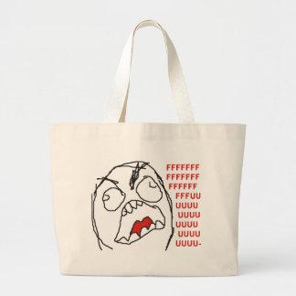 FFFFFFFUUUUUU - Rage! Large Tote Bag