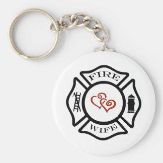 FFFireWife Basic Round Button Keychain