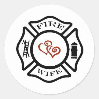 FFFireWife Classic Round Sticker