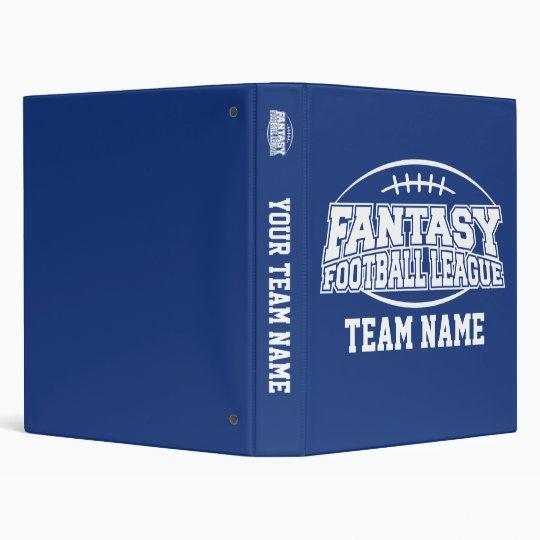 FFL Fantasy Football League Planner Binder