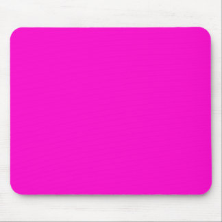 ffoocc HOT PINK SOLID BACKGROUND COLOR TEMPLATE Mouse Pad