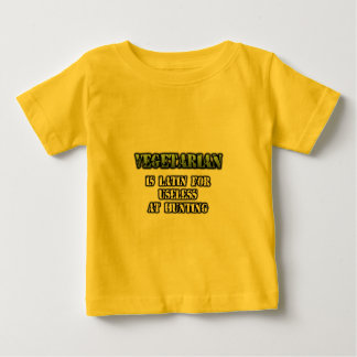 FGD - VEGETARIAN is Latin for Useless at hunting Baby T-Shirt