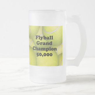 FGDCh 50K Flyball Master Champ 50K Frosted BeerMug Frosted Glass Beer Mug