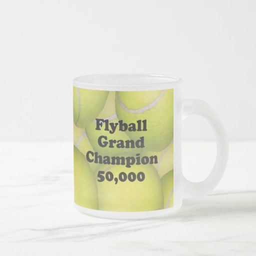 FGDCh 50K, Flyball Master Champion 50K Frosted Mug