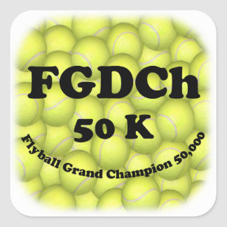FGDCh 50K, Flyball Master Champion Square Stickers