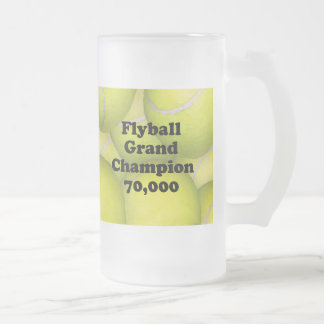 FGDCh 70K Flyball Master Champ 70K Frosted BeerMug Frosted Glass Beer Mug