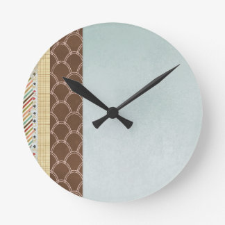 FGN01 DECORATIVE BACKGROUNDS WALLPAPERS  TEMPLATES ROUND CLOCK