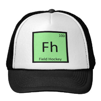 Fh - Field Hockey Sports Chemistry Periodic Table Hats