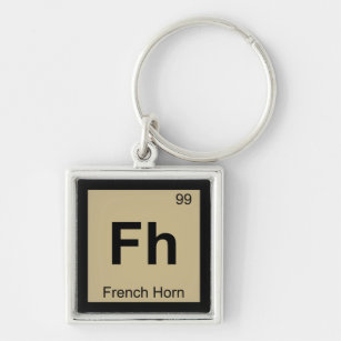 Periodic table symbol metal keychains zazzle fh french horn music chemistry periodic table keychain urtaz Image collections