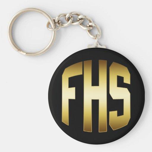 FHS - LA HIGH SCHOOL SECUNDARIA PONE LETRAS AL ORO LLAVERO REDONDO TIPO PIN