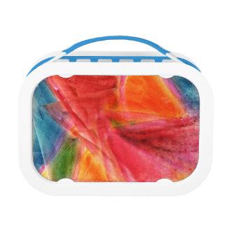 Fiambrera con la acuarela abstracta colorida