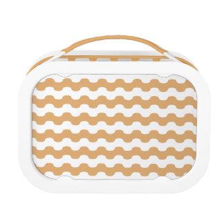 Fiambrera de elegante zigzag de ondas naranja