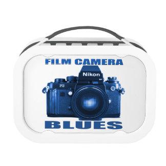 Fiambrera de los azules de la cámara de la películ