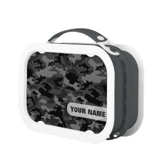 Fiambrera del camuflaje del ejército (color gris