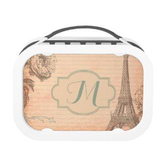 Fiambrera elegante lamentable de la torre Eiffel