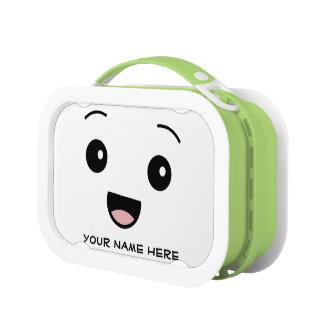 Fiambrera personalizada cara feliz de Kawaii Bento