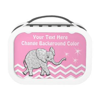 Fiambrera personalizada del elefante para los