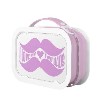 Fiambrera rosada del personalizado de los bigotes