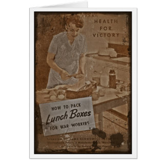 Fiambreras WWII del embalaje Tarjeta De Felicitación
