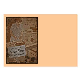 Fiambreras WWII del embalaje Tarjetas De Visita Grandes