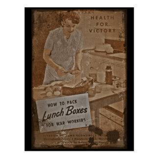 Fiambreras WWII del embalaje Postales