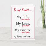 "Fiance birthday card. love. wife card<br><div class=""desc"">card art</div>"