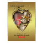 Fiance Christmas Card - Snowman In Heart