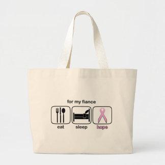 Fiance Eat Sleep Hope - Breast Cancer Bag