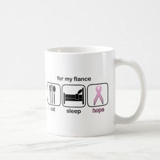Fiance Eat Sleep Hope - Breast Cancer Classic White Coffee Mug