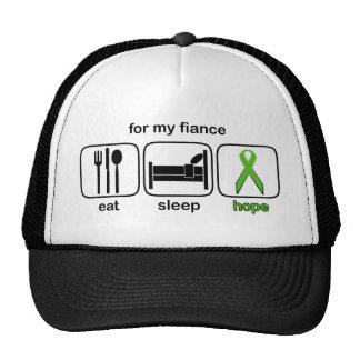 Fiance Eat Sleep Hope - Lymphoma Trucker Hat