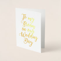 Fiance Future Husband Weddng Groom Foil Card