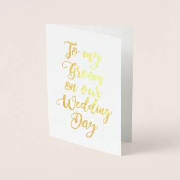 bridalwedding Fiance Future Husband Weddng Groom Foil Card