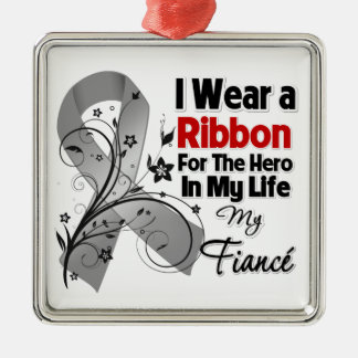 Fiancé Hero in My Life Brain Cancer Christmas Tree Ornaments