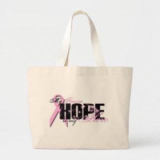 Fiance My Hero - Breast Cancer Hope Tote Bags