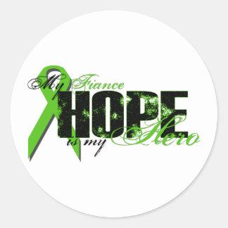 Fiance My Hero - Lymphoma Hope Classic Round Sticker