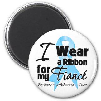 Fiance - Prostate Cancer Ribbon Fridge Magnet