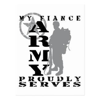 Fiance Proudly Serves - ARMY Postcard