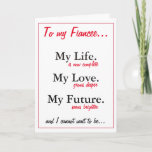 """Fiancee birthday card.love.from husband to be card<br><div class=""""desc"""">card art</div>"""