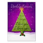 Fiancee Christmas Card With Holiday Tree